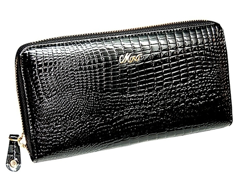 Женский черный кошелек на молнии Moro Jenny 59046