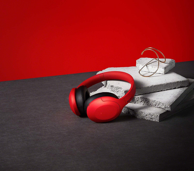 WH-H910NR беспроводные наушники Sony, цвет красный