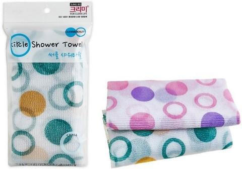Мочалка для душа SUNGBO CLEAMY CLEAN&BEAUTY Circle Shower Towel 1шт 28х95