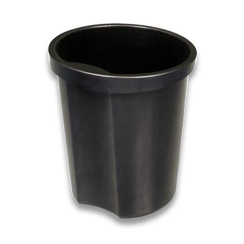 Корзина для мусора с держателем Стамм 12 л пластик черная (27х32 см)