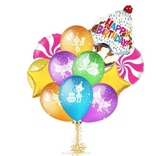 Букет из шаров ребенку на день рождения