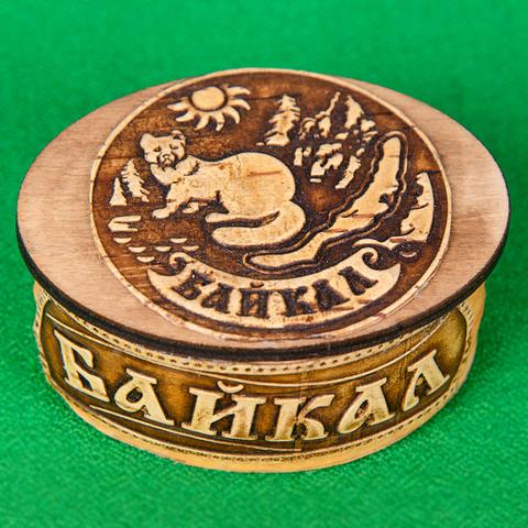Шкатулка Байкальский соболь овал