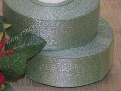 Лента парча мятная ширина 4 см
