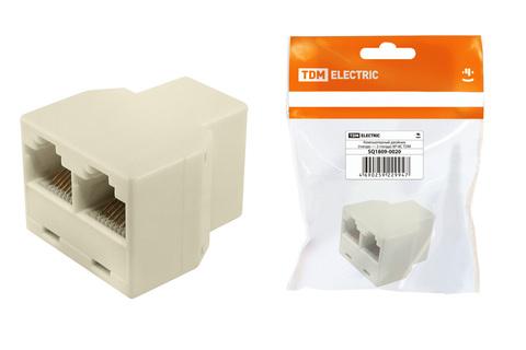 Компьютерный двойник (гнездо — 2 гнезда) 8Р-8С, инд. упаковка TDM