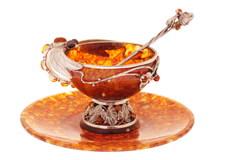 """Янтарный чайный набор из 3 предметов, серия """"Летнее настроение"""""""