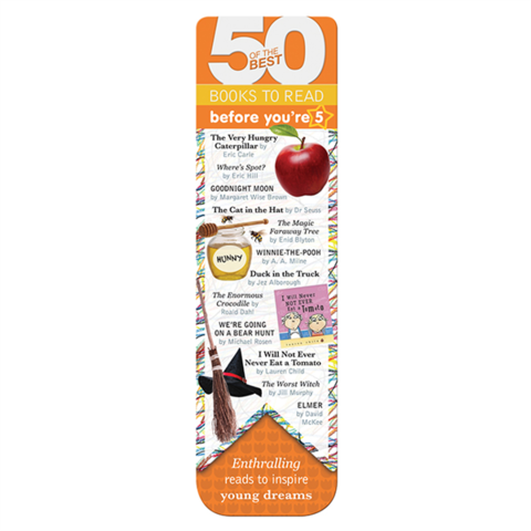 50 Books bookmarks