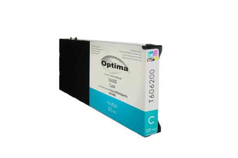 Картридж Optima для Epson 4800/4880 C13T606200 Cyan 220 мл