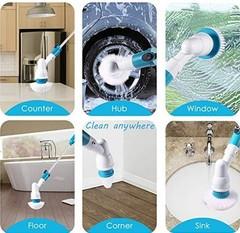 Мощная электрическая щетка для уборки в ванной и на кухне Spin Scrubber