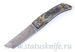 Нож Paolo Gidoni Engraver Erik Ansaldi Samurai