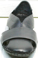 Синие босоножки сандали с закрытым носом мужские Luciano Bellini 76389 Blue.