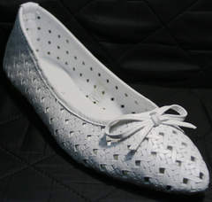 Модная обувь балетки Vasari Gloria 19Y38860-37 White.