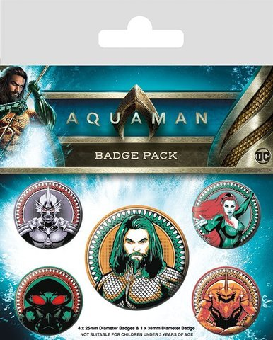 Значки Pyramid: DC: Aquaman (Heavy Hitters Of The Seas)