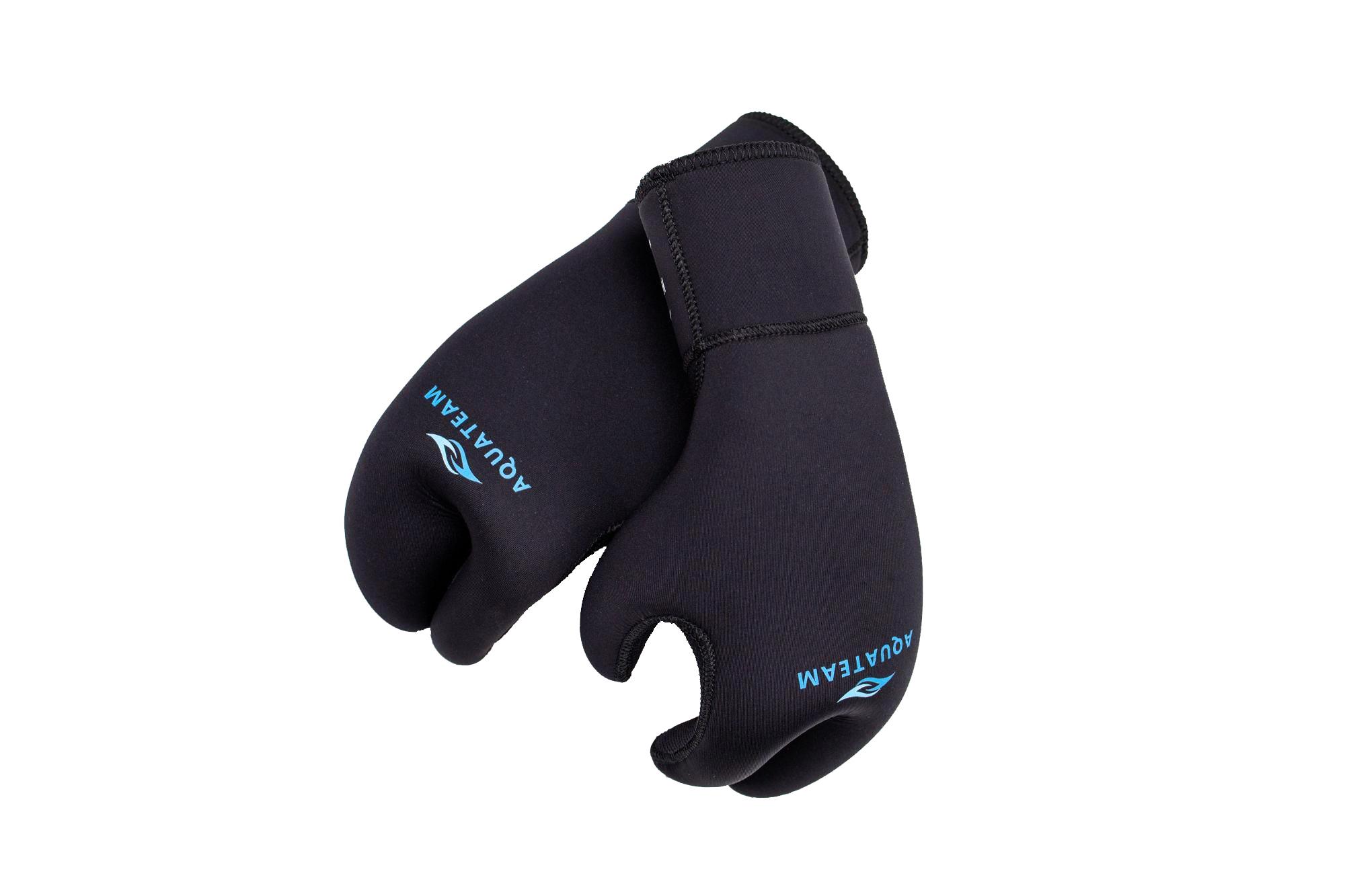 Перчатки Aquateam Hunter 9 мм 3-палые ультраспан