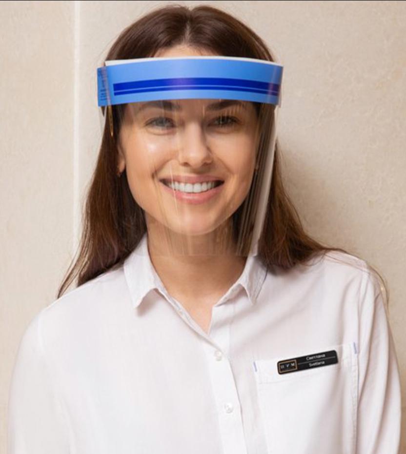 Многоразовый экран для защиты лица, глаз и органов дыхания.