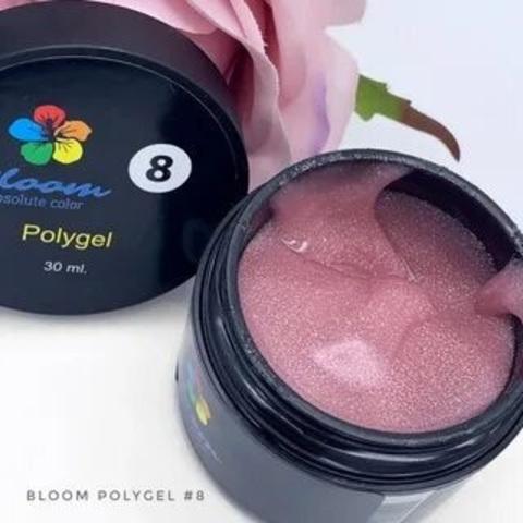 Bloom Полигель№8 искрящийся розовый (30 мл)