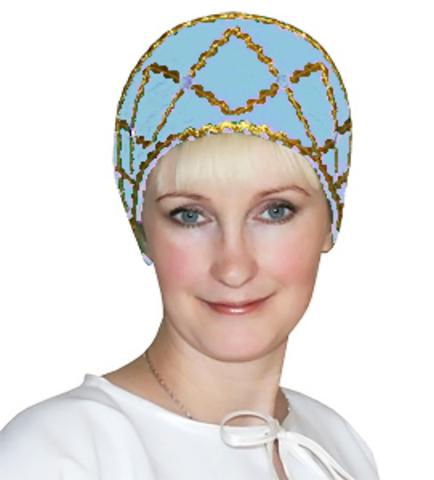 Кокошник Дарья голубой
