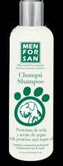 Men For San шампунь для собак с протеином шелка и маслом арганы 300 мл