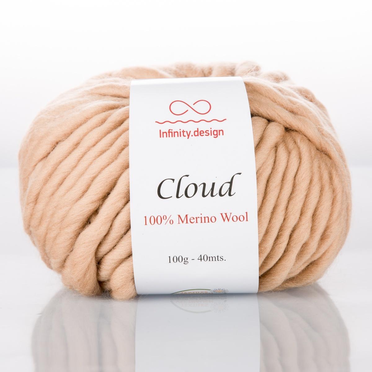 Пряжа Infinity Cloud 7063 топленое молоко