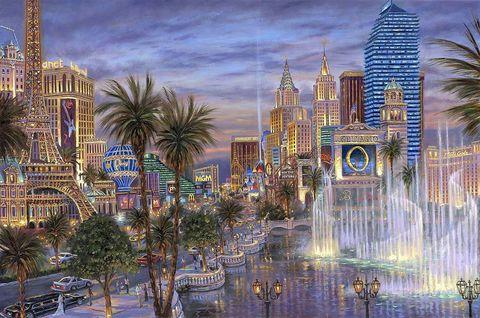 Картина раскраска по номерам 30x40 Собранный город