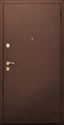 Дверь входная S-3-2 стальная, медь, 2 замка, фабрика Арсенал