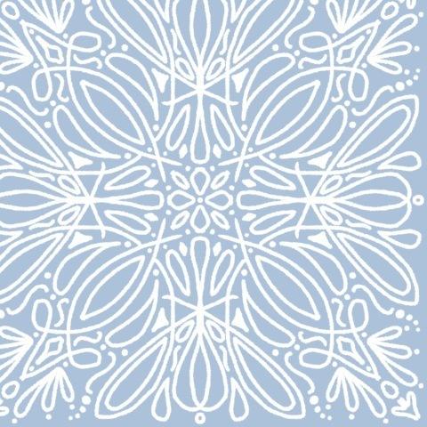 Бело-голубой узор