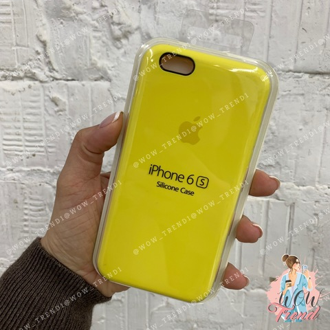 Чехол iPhone 6+/6s+ Silicone Case /canary yellow/ канареечный 1:1