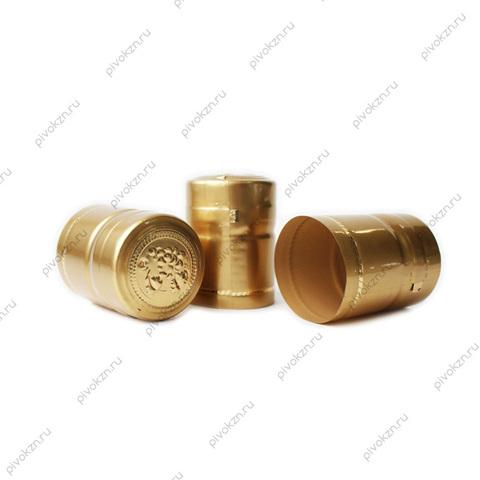 Термоколпачки короткие золотые, 40 шт