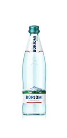Минеральная вода Borjomi газированная, стекло, 0,5 л