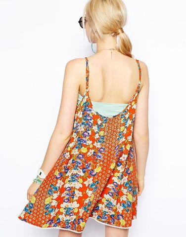 """Платье с принтом """"апельсиновый цвет"""" MinkPink"""