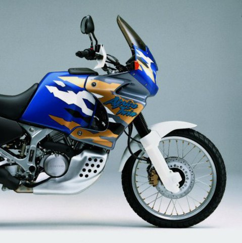 Набор наклеек Honda XRV 750V Africa Twin '96-1999 (пластик серебристо/синий)