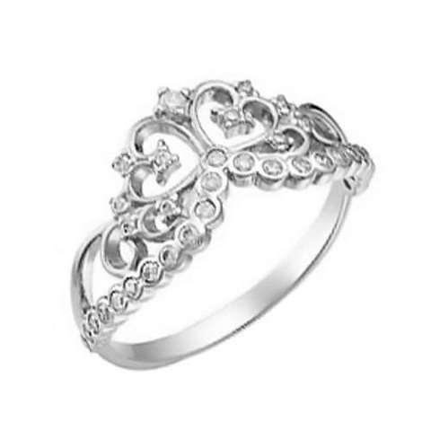 53715276Р - Кольцо ажурное из серебра с фианитами