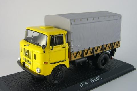 IFA W50L Truck yellow Atlas 1:43