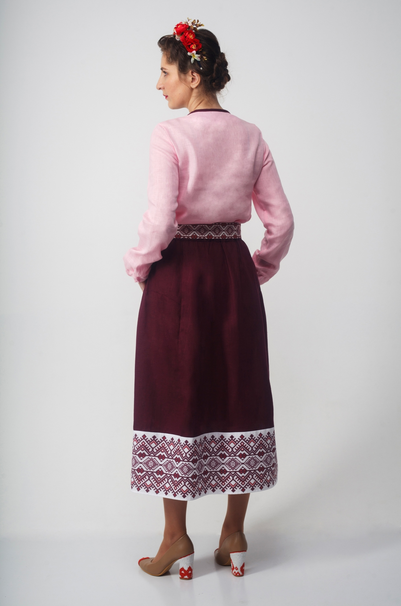 Блуза Самоцветы (Сапфир) вид сзади