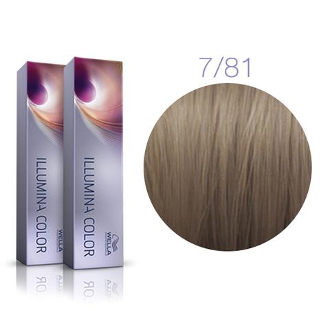 Wella Professional Illumina Color 7/81 (Блонд жемчужно - пепельный) - Стойкая крем-краска для волос