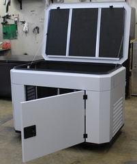 Домик для генератора SB1200DM серый с открытыми дверцами