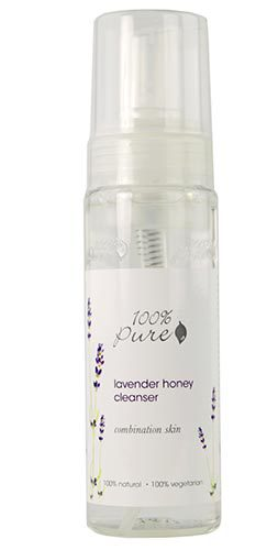 Органическая очищающая пенка для лица «Лаванда и мёд» для комбинированной кожи, 100% Pure