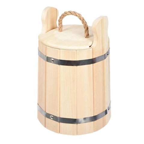 Кадка из липы для воды и заготовки солений с крышкой и гнётом 5 л