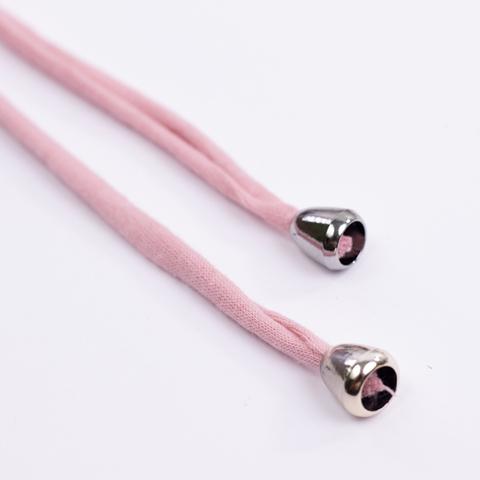 Комплект пластиковых наконечников для тканевой утяжки N6 (серебро)