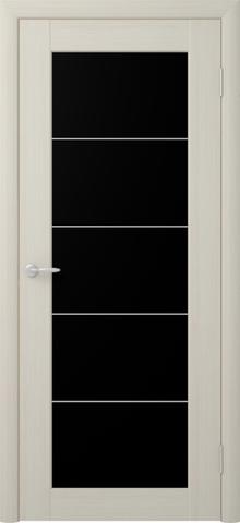 Дверь ALBERO  Сан-Ремо СР-5 триплекс черный (лиственница мокко, остекленная экошпон), фабрика Фрегат