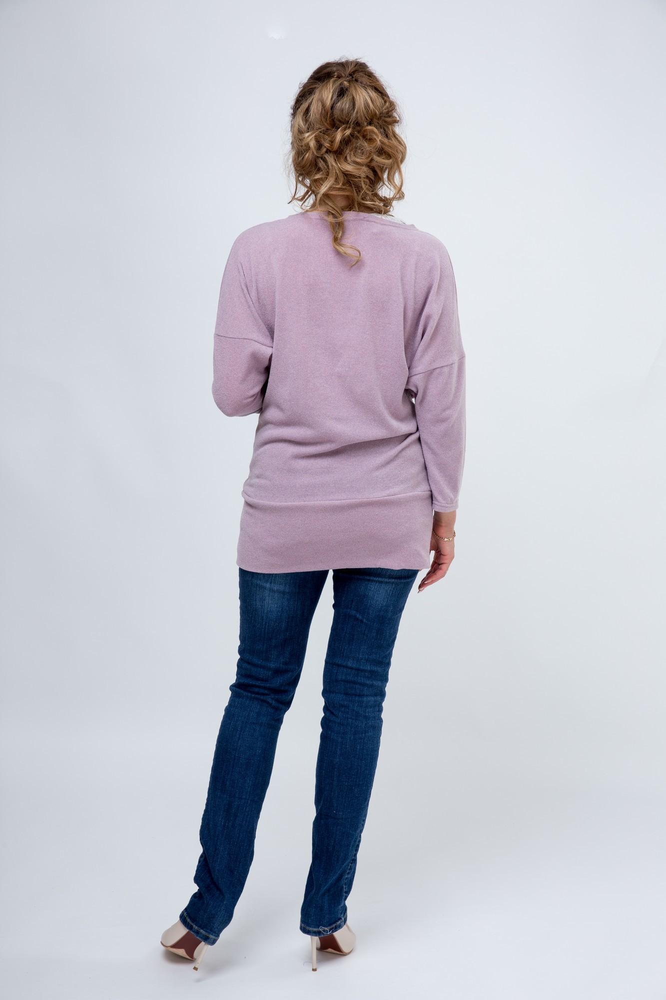 Джемпер для беременных 03805 розовый