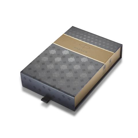 Подарочная коробка Parker с серым чехлом под ручку123
