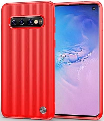 Чехол Samsung Galaxy S 10 цвет Red (красный), серия Bevel, Caseport