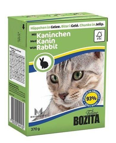 BOZITA консервы для кошек кусочки в желе с кроликом 370 г