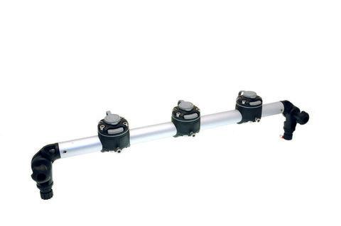 Тарга с тремя замками Gr610-3, 610 мм, черная