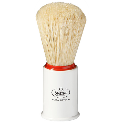 Помазок для бритья натуральный кабан Omega 11148 белый