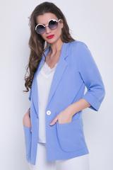 <p>Такой пиджак пригодится в гардеробе любой женщины для повседневного ношения и для деловых свиданий. Элегантность, утонченность, привлекательность и функциональность - вот основные достоинства модного образа.<span>(Длина: 44-74см; 46-75см; 48-76см; 50-77см; 52-78см)</span></p>