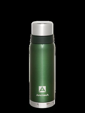 Термос Арктика (0,75 литра) с узким горлом американский дизайн, зелёный