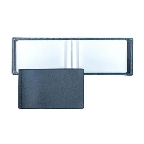 Визитница карманная ДПС на 28 визиток из ПВХ синего цвета (2754-101)