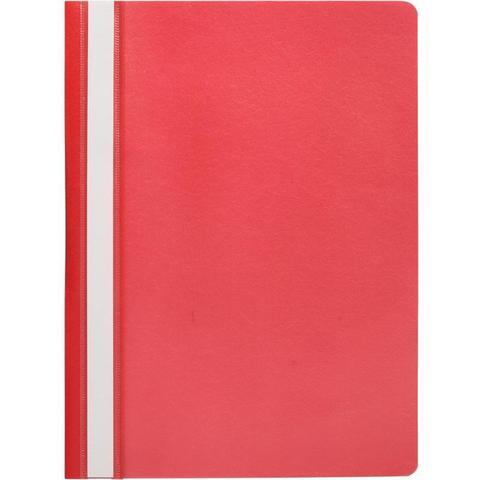 Скоросшиватель пластиковый Attache A4 до 100 листов красный (толщина обложки 0.13/0.15 мм, 10 штук в упаковке)
