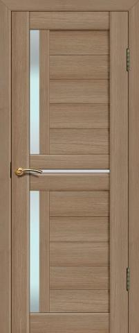 Дверь La Stella 202, стекло матовое, цвет тиковое дерево, остекленная